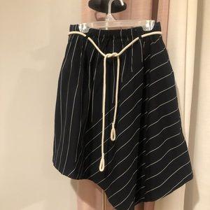 symmetrical striped skirt